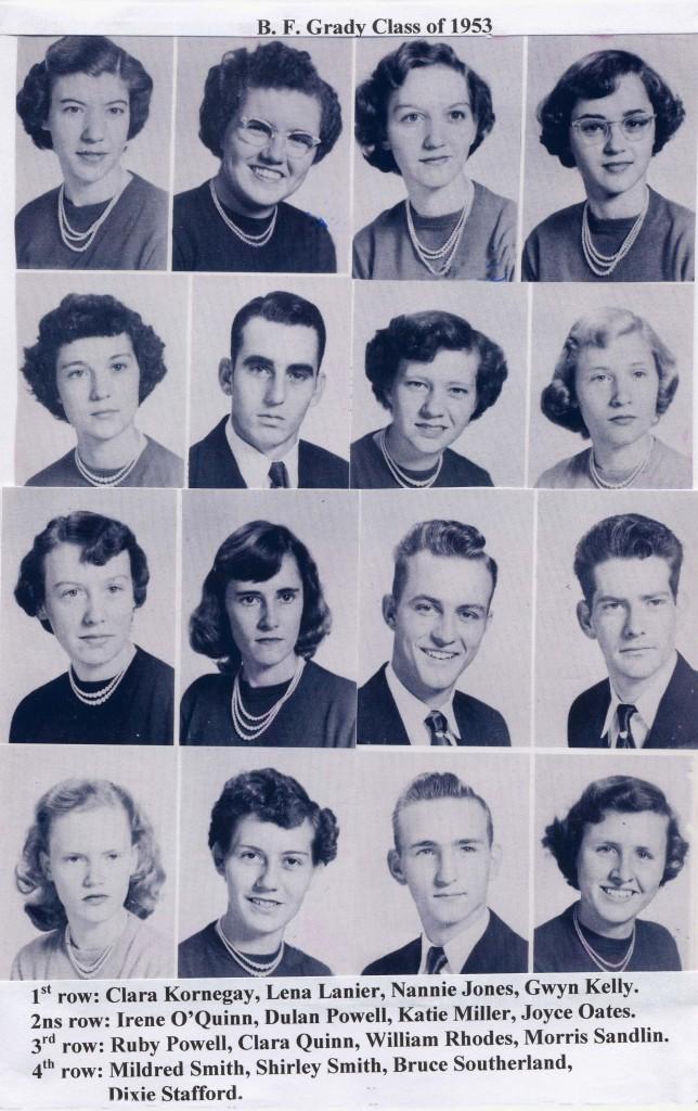 2 B F Grady class of 53