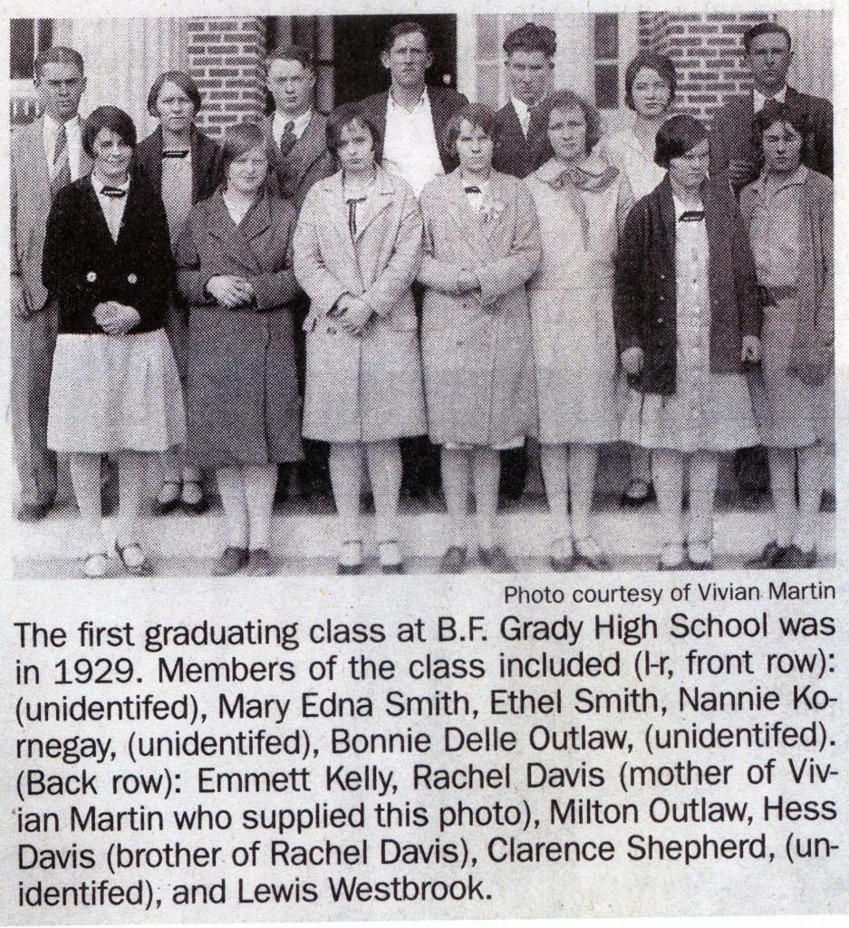 B F Grady class of 1929