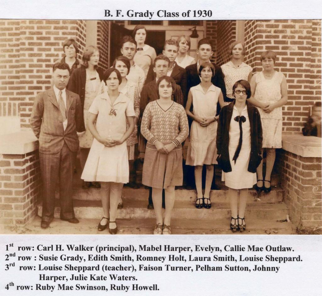 B F Grady class of 1930