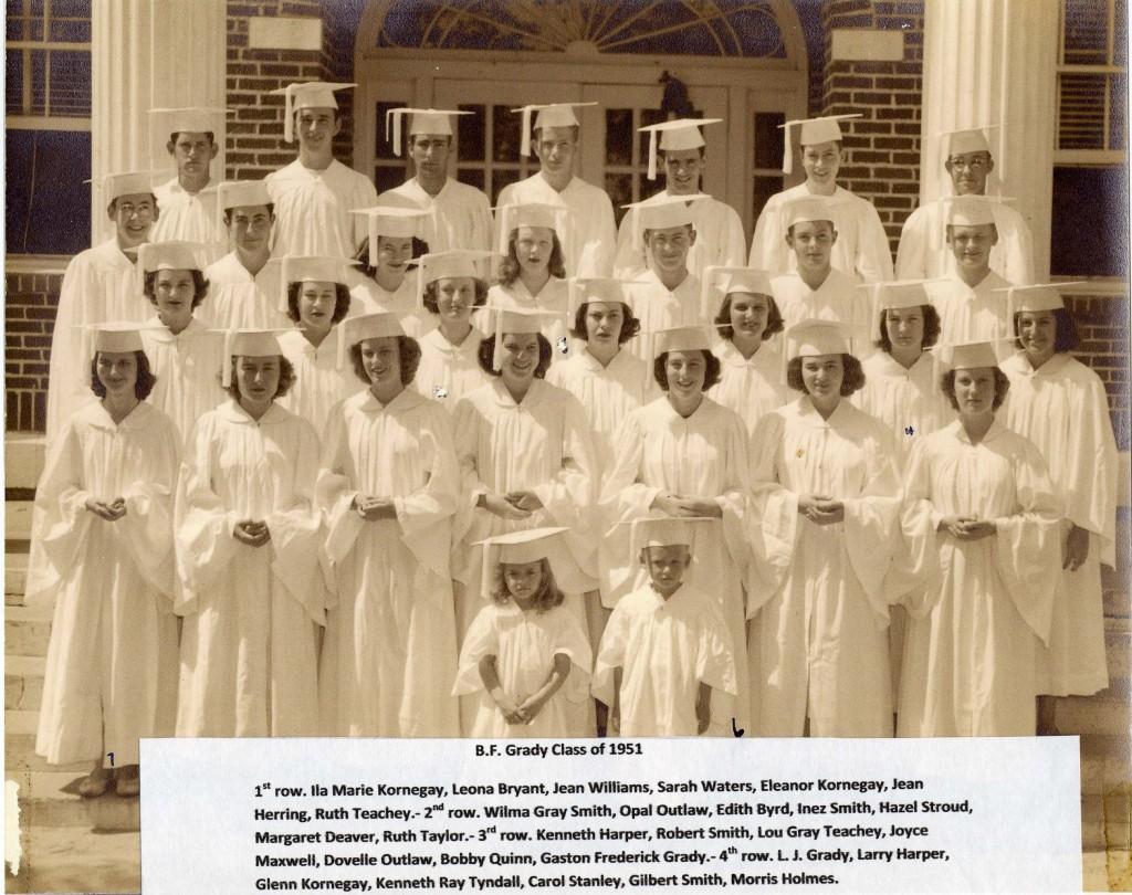 B F Grady class of 1951