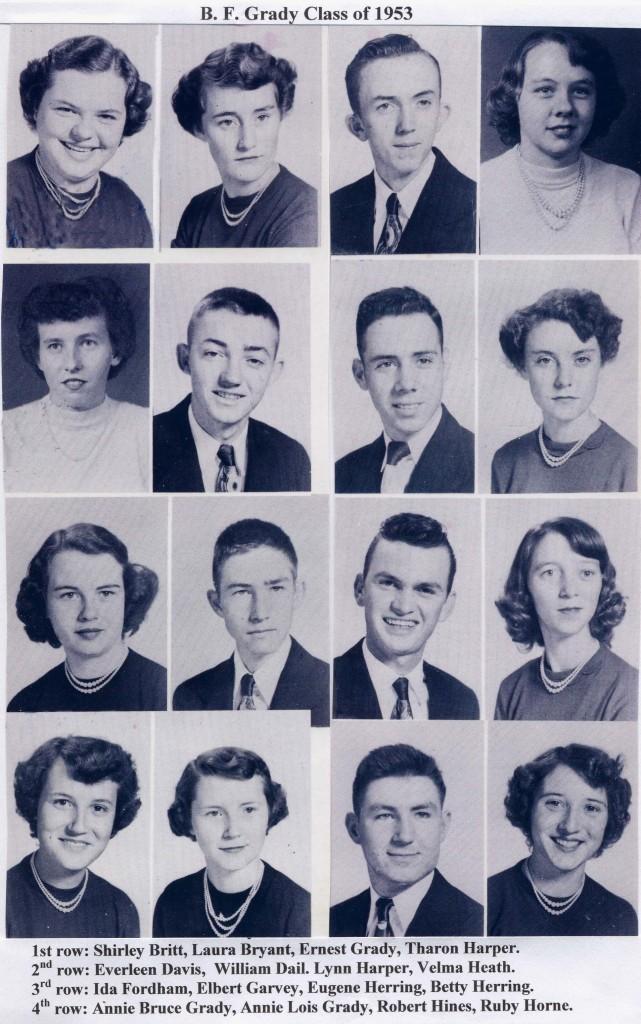 B F Grady class of 53