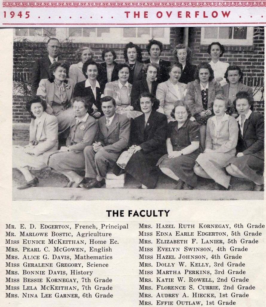 BFG High School Teachers 1945