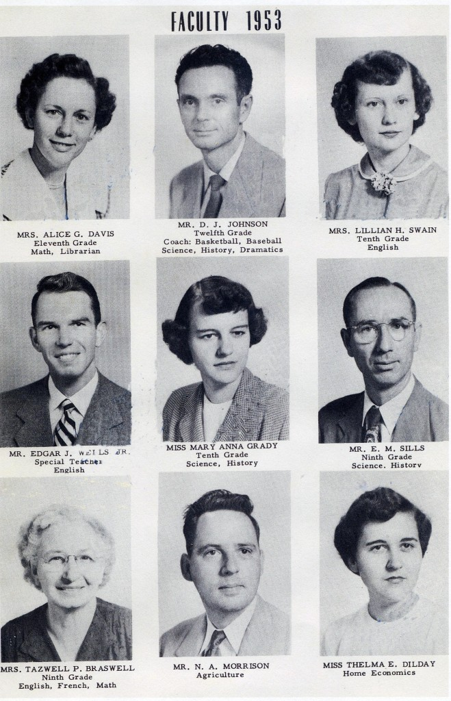 BFG High School Teachers 1953