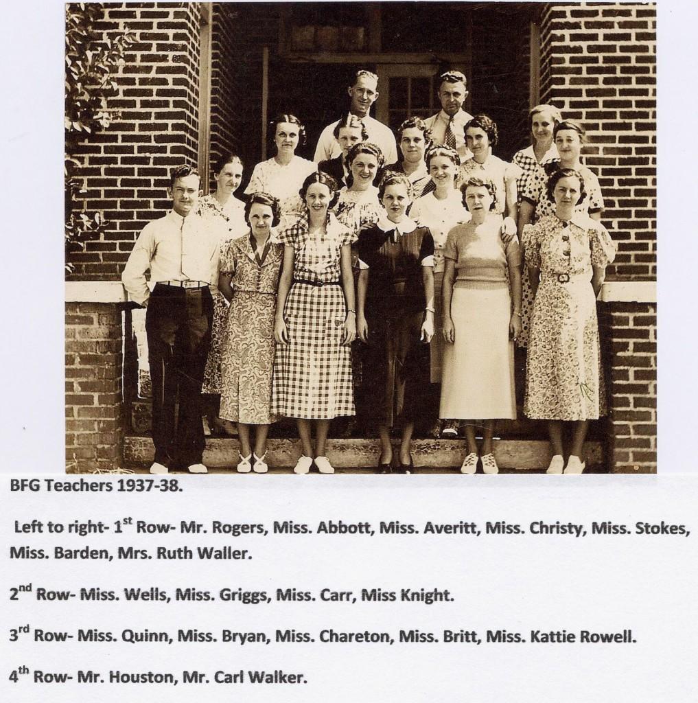 BFG Teachers 1937-38