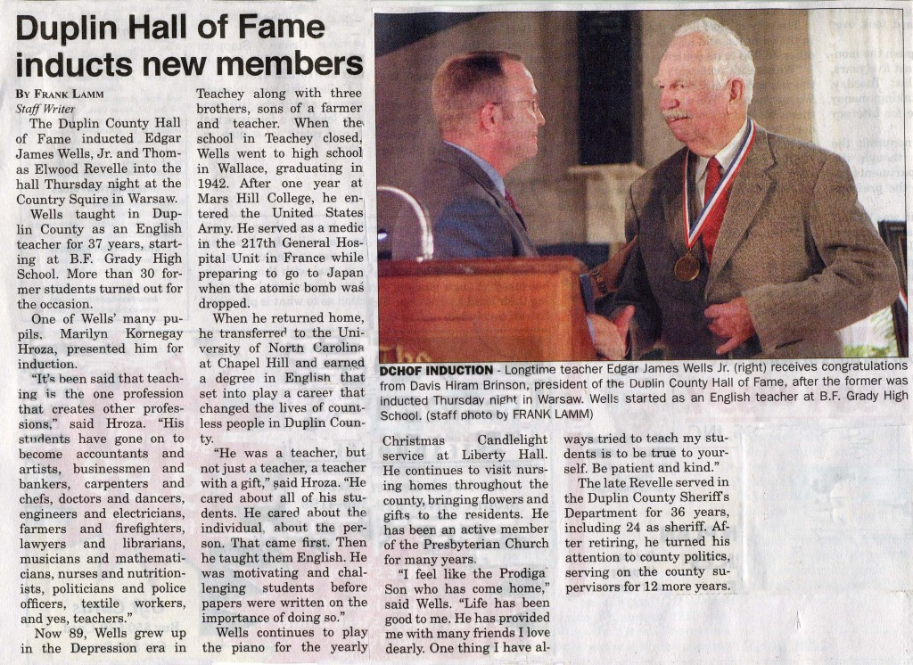 Edgar Wells Hall of Fame