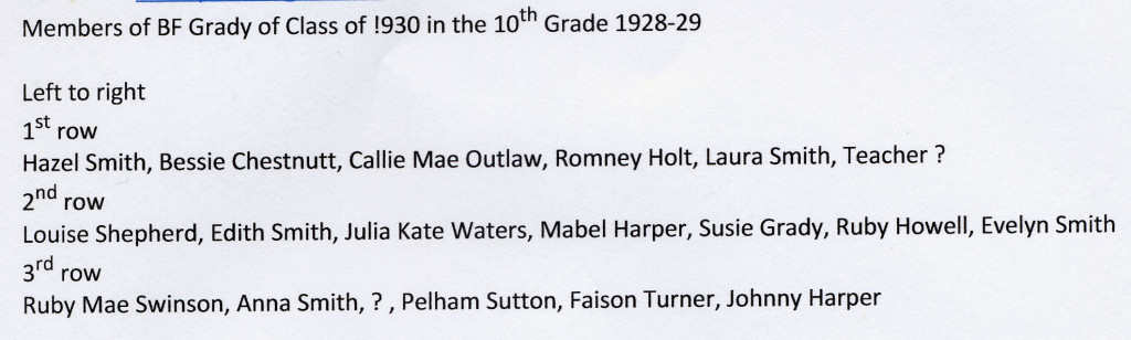 BFG 1930 class in 10th grade