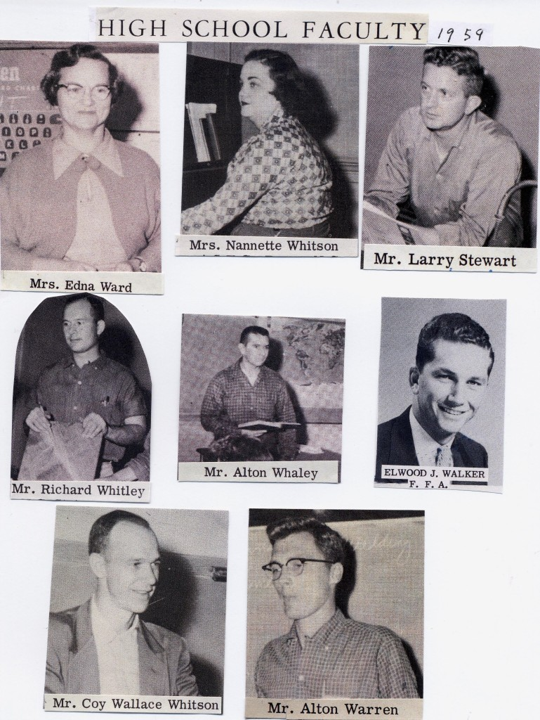 High School Faculty 1959