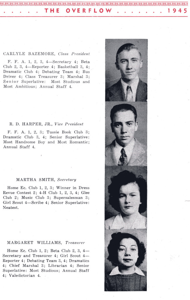 B F G Class 1945 Seniors P 1