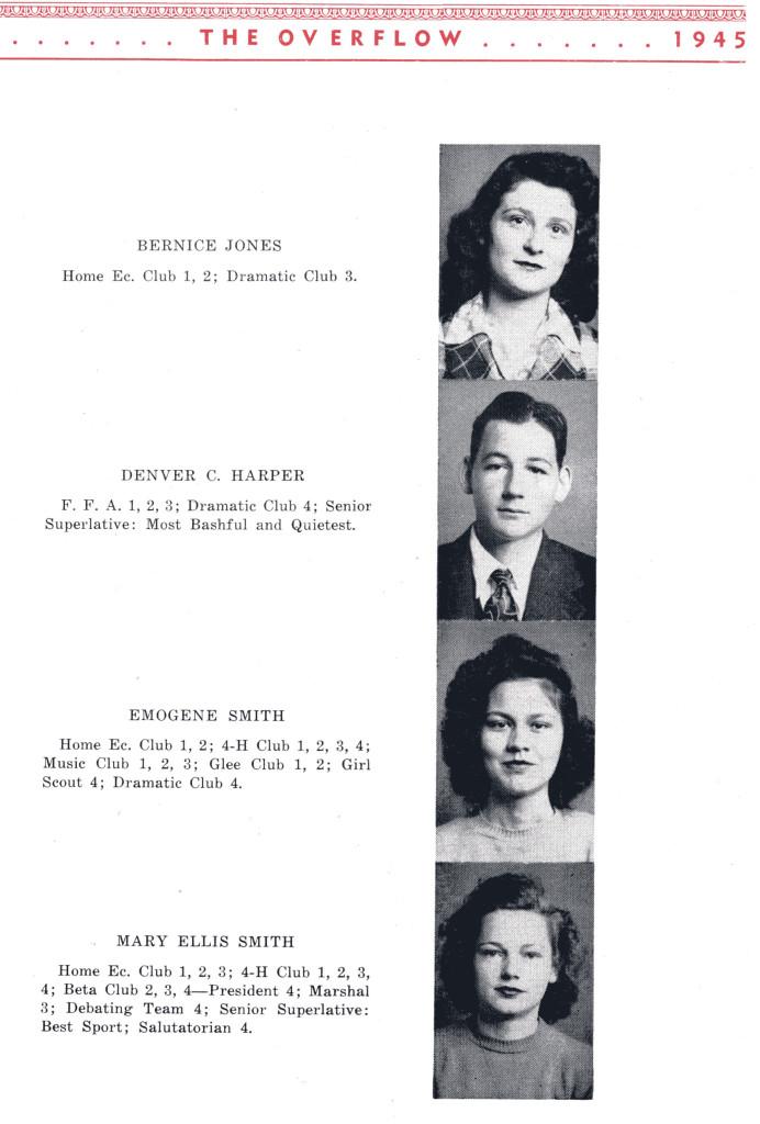 B F G Class 1945 Seniors P 5