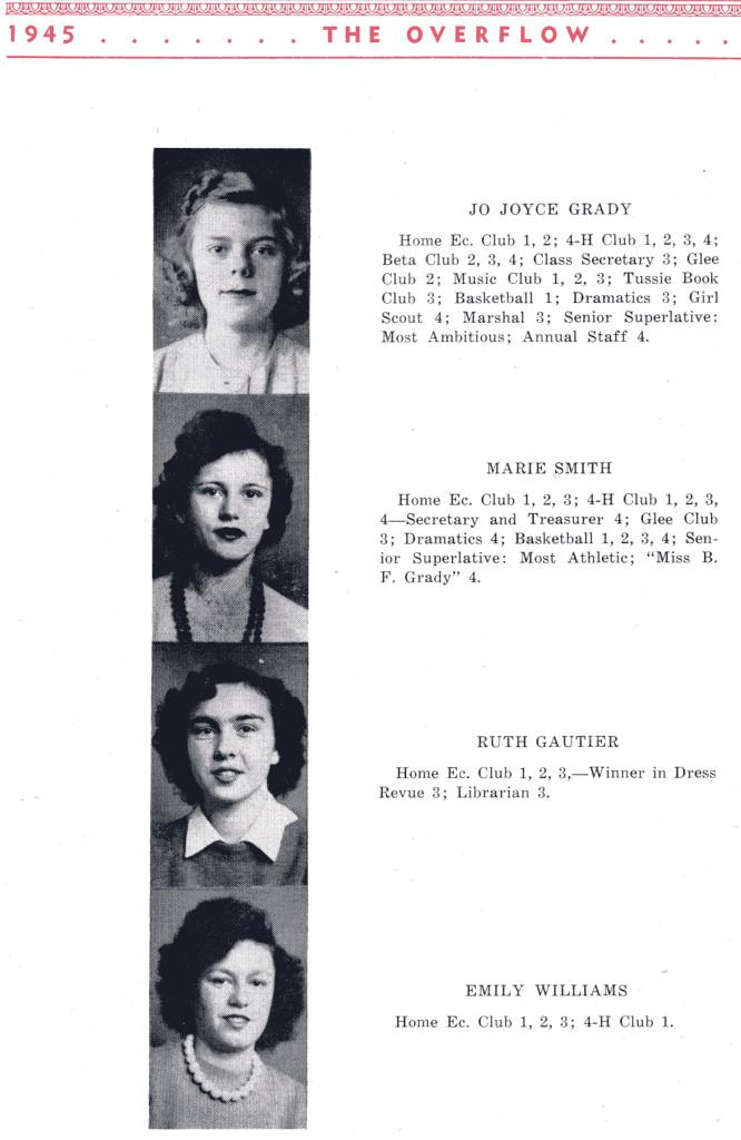 B F G Class 1945 Seniors P 6