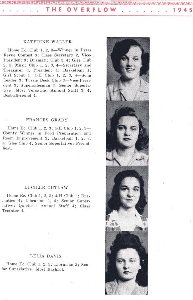 B F G Class 1945 Seniors P 7