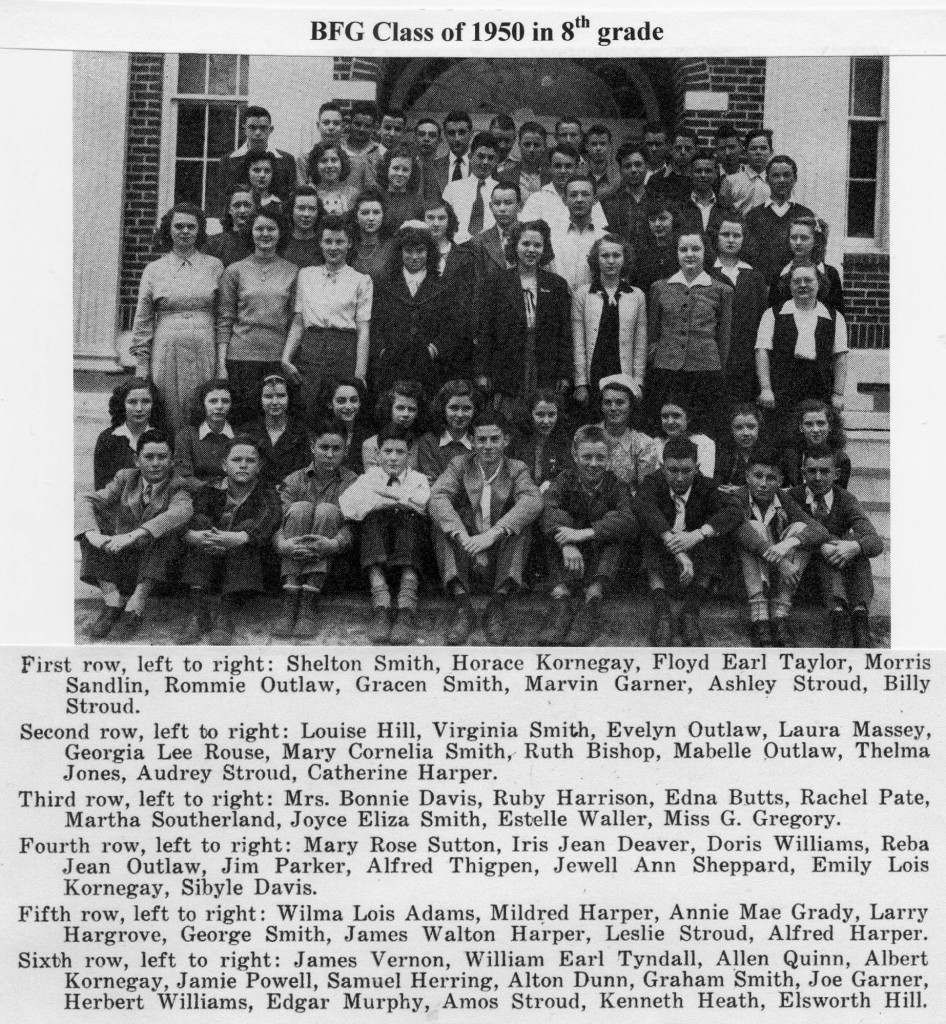 BFG Class 1950 in 8th grade