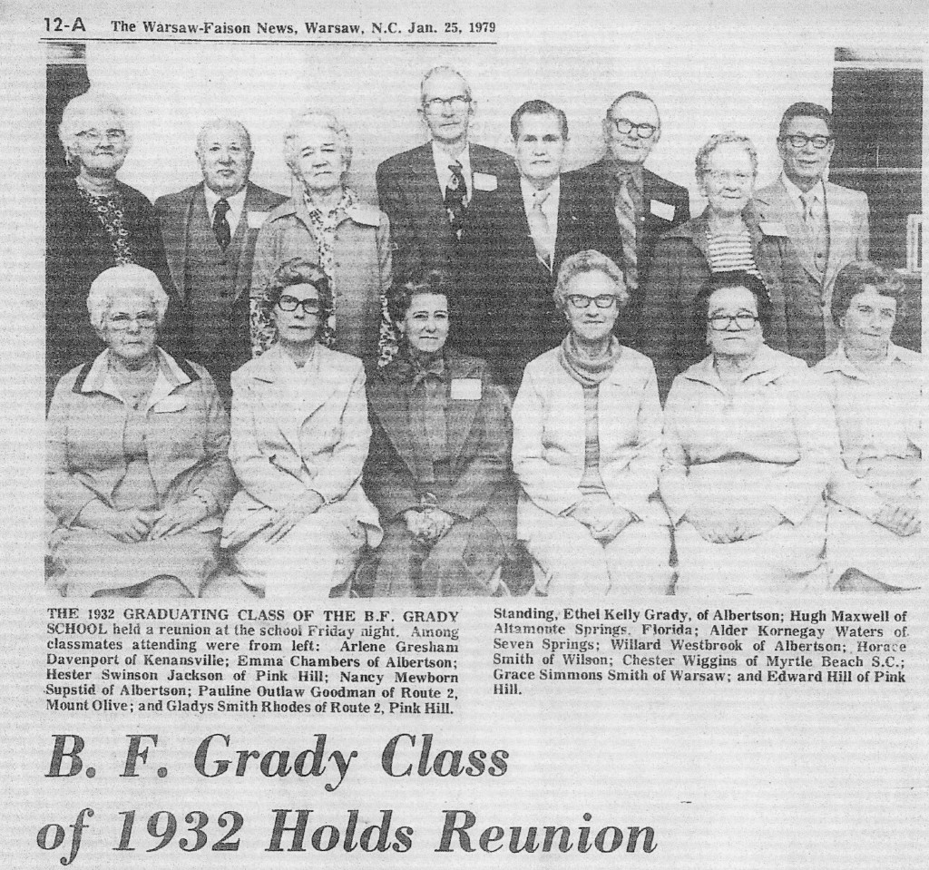 BFG Class of 1932 reunion