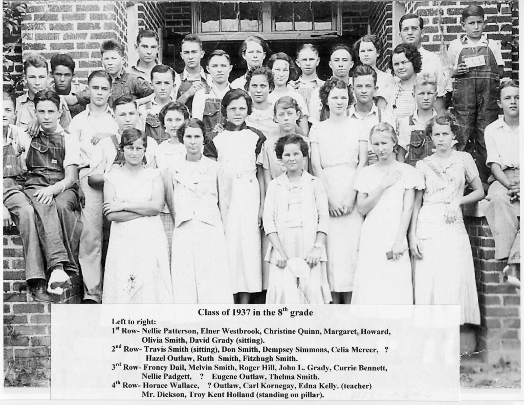 BFG Class of 1937 in the 8th grade