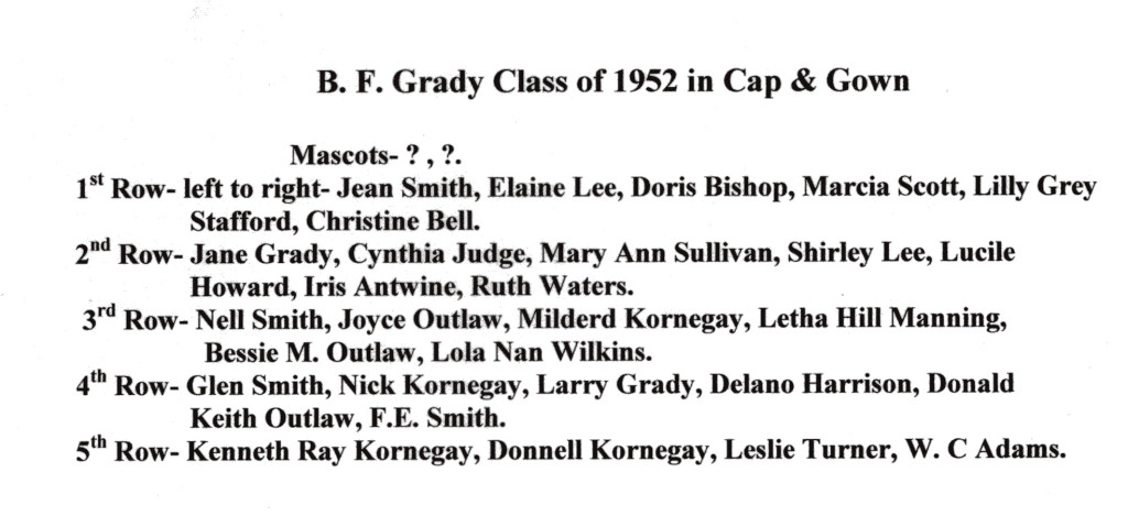 BFG Class of 1952 C &P list