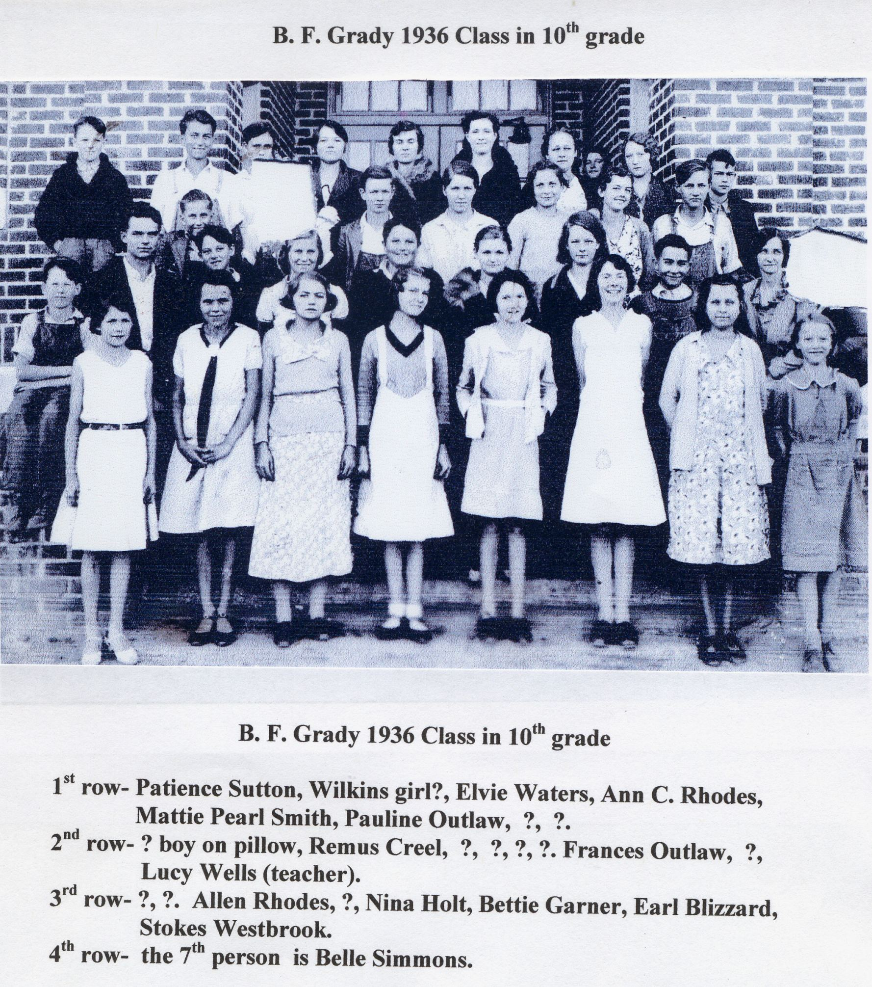 BFG 1936 Class in 10th grade