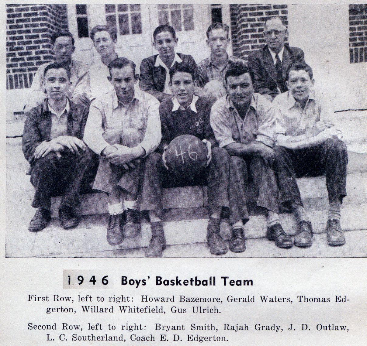 BFG 1946 Boys' Basketball Team