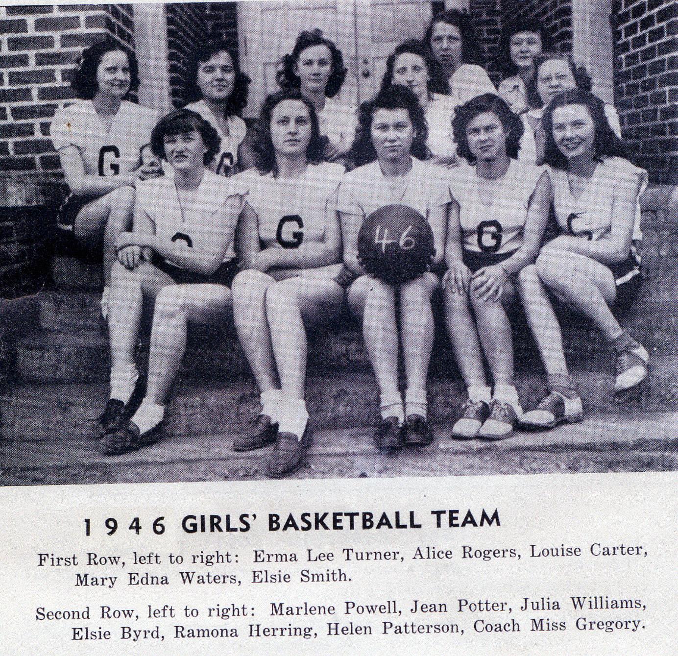 BFG Girl's Basketball Team 1946